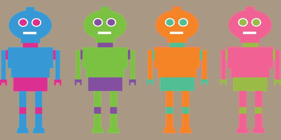 robots por personas