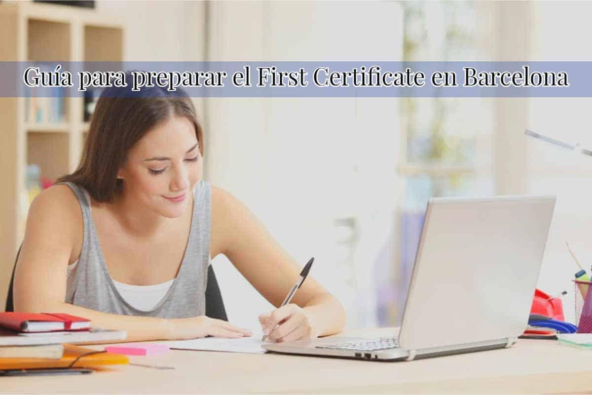 first certificate barcelona