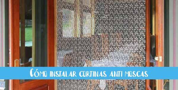 como instalar cortinas antimoscas